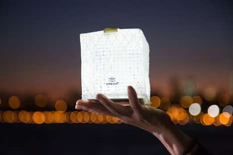 Solar-Powered Lanterns - 'Solarpuff' are Tiny Flexible Lanterns That Run Entirely on Solar Power