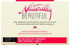 Natural Skincare Infographics - Ogle School's Graphic Shows Secrets to Natural Skincare Beauty