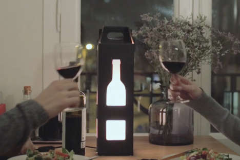 Light-Up Wine Carriers - These Dual-Functioning Wine Bags Also Act as a Decorative Table Light