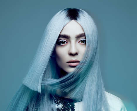 Blue-Tinged Hair Photography