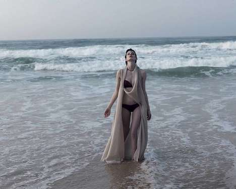 Serene Siren Editorials - The Marie Claire Italia Bharat Sikka Photoshoot is Submerged Throughout