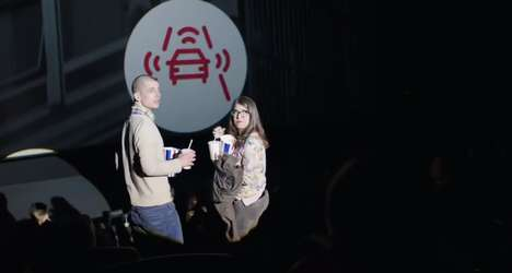 Disruptive Movie Stunts - Volkswagen Interrupts Movies to Promote Its Pedestrian Detection System