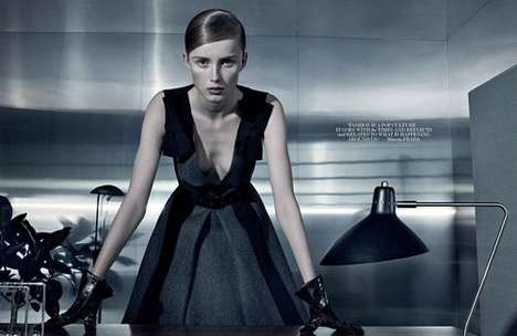 Office Oriented Editorials - The Interview Magazine Craig McDean Photoshoot is Business Chic