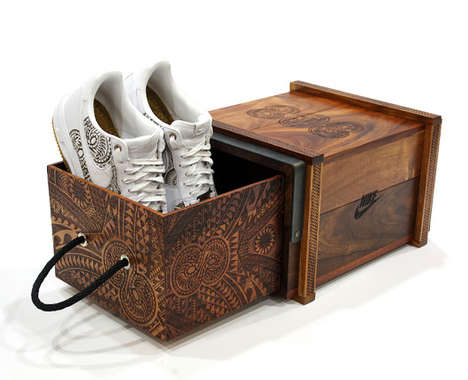 Carved Shoe Boxes