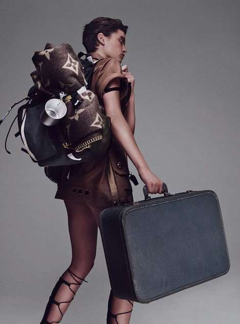 Faux Camping Photoshoots - The Marie Claire Italia Yvan Fabing Editorial Depicts Nomadic Scenes