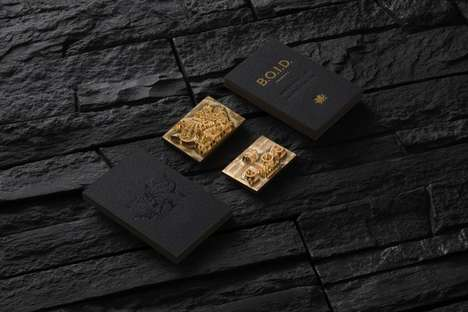 Opulent Business Card Branding - Eskimo's Black and Gold Branding Concept is Elegantly Ornate