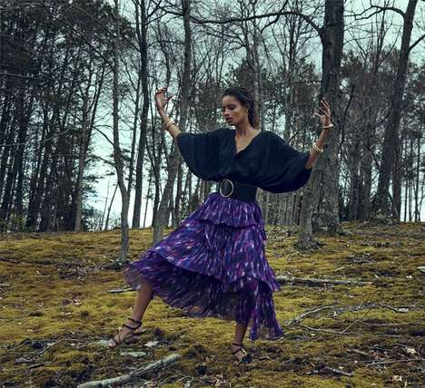 Abandoned Bohemian Photoshoots - The Edit A Woman of Spirit Editorial Shows Barren Beatnik Sets