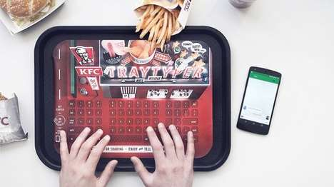 Fast Food Keyboard Liners - The KFC Tray Typer Saves Smartphones From Greasy Fingers