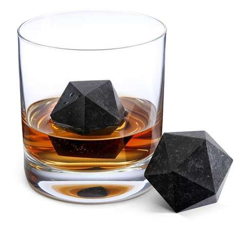 54 Modernized Ice Cubes - From Hashtag Ice Makers to Spherical Drink Chillers