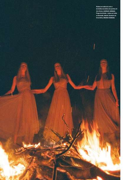 Stylish Seance Editorials - The Numero Magazine Feu De Camp Photoshoot is Beautifully Bewitching