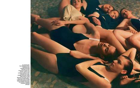 Communal Bathing Photoshoots - The Marie Claire France The Turkish Bath Editorial is Team Specific