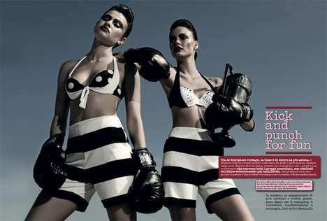 Athletic Squadron Editorials - The Vogue Italia Ride the Old Wave Photoshoot is Aggressively Sporty