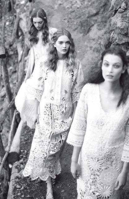 Dreamlike Designer Editorials - The Vogue Italia Picnic in Mallorca Photoshoot is Noticeably Hazy