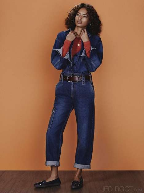 Dated Denim Editorials - The Vogue Russia Emma Tempest Photoshoot Shows Retro Jean Pieces