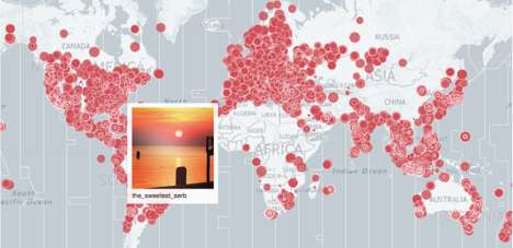 Social Sun-Tracking Maps - 'All Our Suns' Lets You Watch the Sun Around the World on Instagram