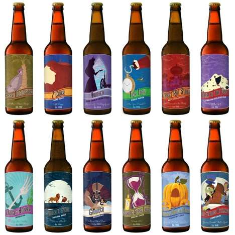 Disney Beer Labels - These Enchanted Beer Labels are Perfect for Animated Movie Lovers