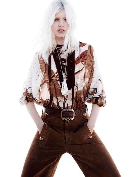 Contemporary Cowgirl Editorials - The Vogue Netherlands Jan Welters Photoshoot Focuses on Farm Looks