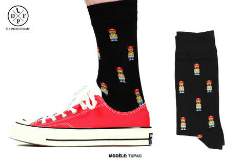 Printed Pop Culture Socks - De Pied Ferme Creates Hosiery Inspired by Video Games and Celebrities