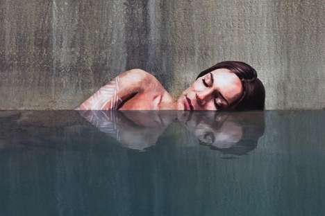 Incredible Seaside Murals - Sean Yoro Creates Stunning Street Art From His Surfboard