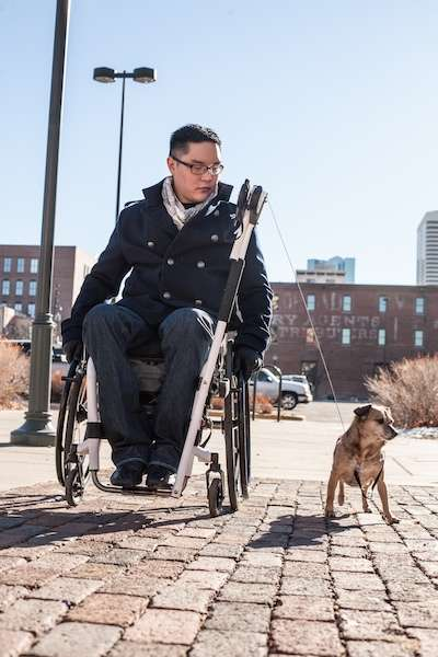 Wheelchair-Equipped Dog Leashes - 'sciLeash' is a Hands-Free Wheelchair Attachment for Dog Walking