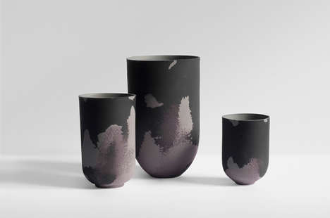 Deliberately Decaying Vases - The Marie Liebhardt Flaws Collection Replicates Deteriorating Cities