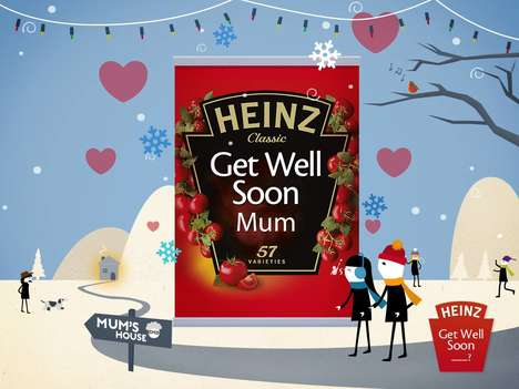Customized Can Campaigns - The Heinz Get Well Soup Campaign Sends Custom Cans to Loved Ones