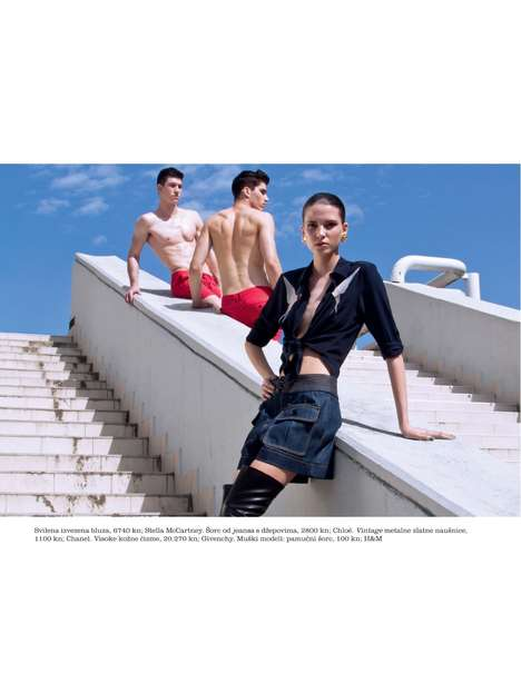 Opulent Trio Editorials - The Elle Croatia Cool Glamour Photoshoot Depicts Fashion Through Threes