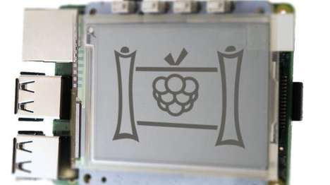 Inexpensive E-Ink Displays - The PaPiRus Display Can Be Mounted Onto the Raspberry Pi Computer