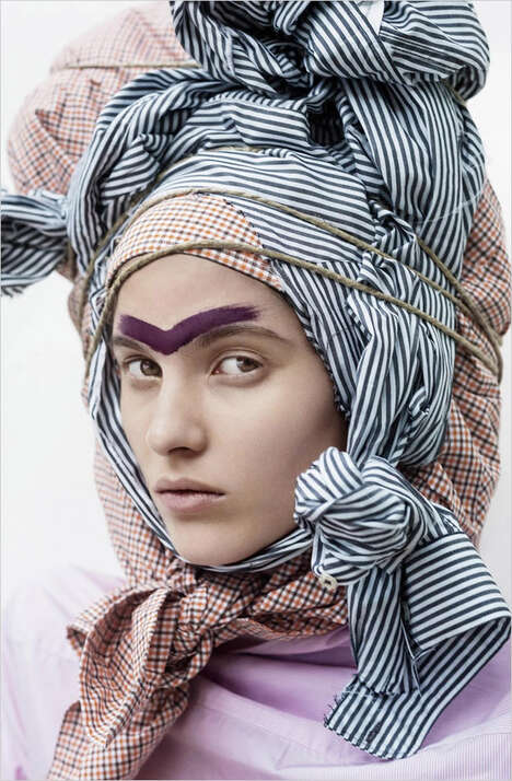 Chic Headwrap Editorials - Fashionable Headpieces Rule S Moda's Pirate Fashion Story