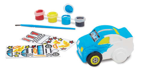 DIY Automobile Crafts - This DIY Race Car Bank Art Set is the Perfect Rainy Day Activity