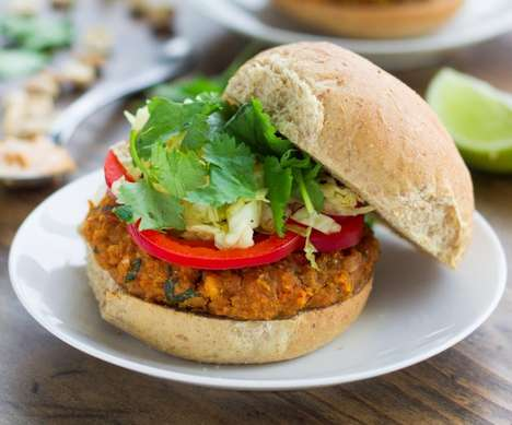 Peanut Veggie Burgers - These Spicy Thai Peanut Veggie Burgers Bring the Vegetarians to the Cookout