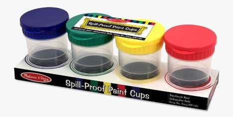 Spill-Proof Art Supplies - These Paint Cups from Melissa & Doug are Less Messy for Toddlers to Use