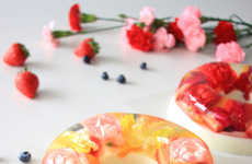 Creamy Flower-Filled Treats - These Beautiful Pastries Have Eatable Flowers Inside a Gelatin Casing