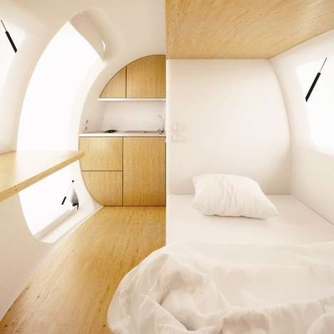 Capsule-Shaped Shelters - The Ecocapsule Will Be Unveiled At the Pioneers Festival
