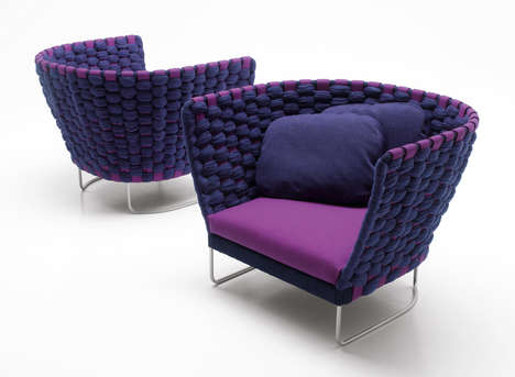 24 Whimsically Woven Seats - From Nest-Inspired Seating to Wove Cocoon Seating
