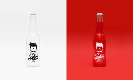 Nostalgic Soda Branding - This Polish Soda Packaging is Inspired by the 1990s
