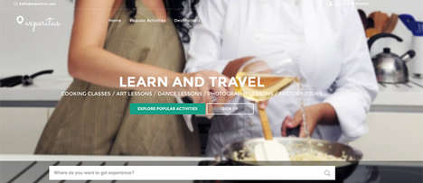 Travel Experience Websites - 'Experitus' is Travel Experience Platform for Purchasing Local Lessons