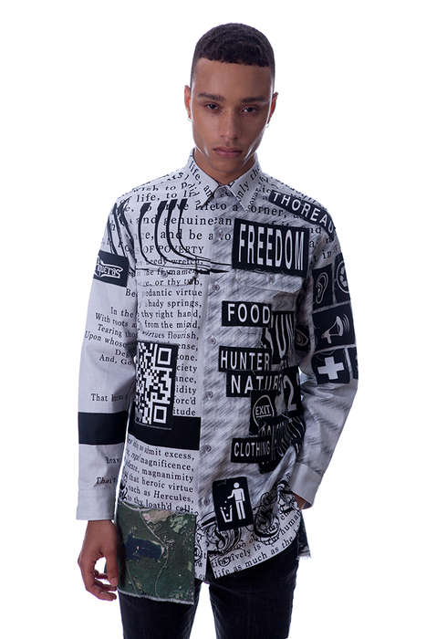 Cyber Scrapbook Fashion - The Latest Roberto Piqueras Lookbook References Big Data
