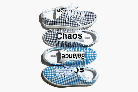 Retro Gingham Sneakers - Undercover Brings Back the 'Chaos/Balance' Motif for Its New Sneaker Line