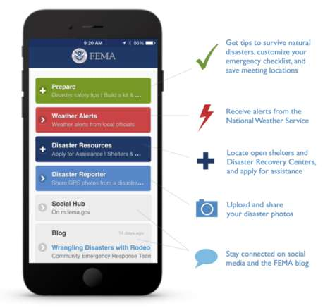 Disaster Preparedness Apps - FEMA Warns Users of Dangerous Weather Conditions and Natural Disasters
