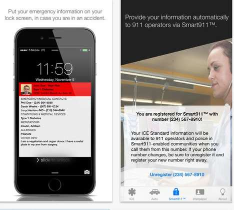 Condensed Medical History Apps - ICE Standard Gives Users Health Info in Case of Emergency