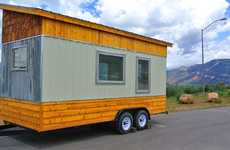 Rustic Tiny Homes - The 'Front Range' Home Sits On a Custom Two-Wheel Trailer