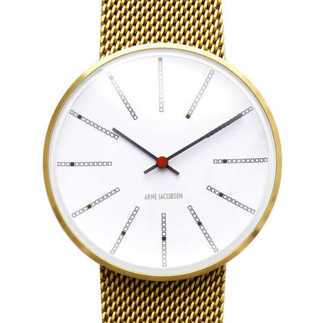 Wall Clock Wristwatches - This Shrunken Down Wall Clock is a Retro-Inspired Wristwatch