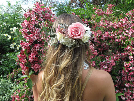 DIY Wedding Headdresses - This Homemade Bridal Flower Crown Beautifies Brides on Their Big Day