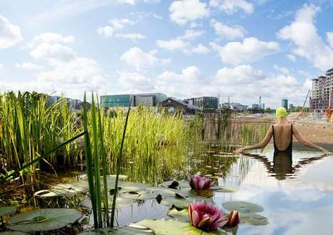 Outdoor Bathing Ponds - The King's Cross Pond Club Pond is the UK's First Public Swimming Pond