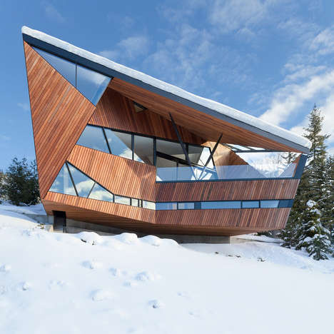 Wooden Angular Houses - Patkau Architects Designs a Geometric Country Home in British Columbia