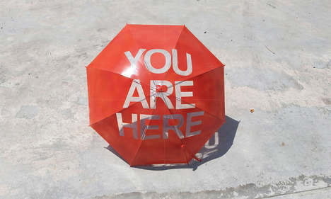Clever Umbrella Shadows - Nadiah Alsagoff's Umbrella Tells People Exactly Where They Are