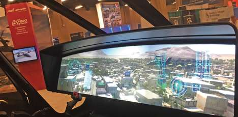 Single-Screen Military Cockpits - Bell Helicopter's Display Panel Grants Tons of Imagery and Data