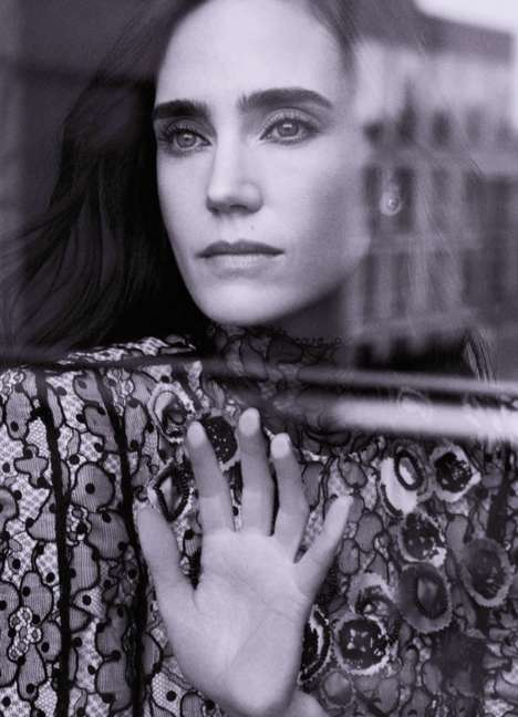 Elegantly Reflective Editorials - Jennifer Connelly Stars in Town & Country Magazine's Latest Issue