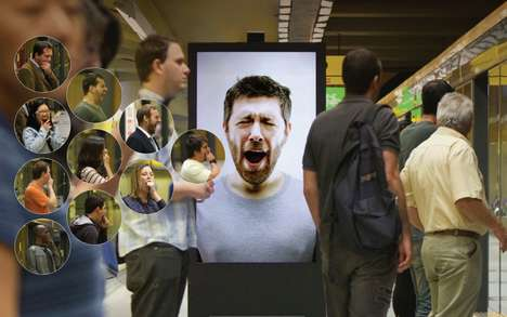 Contagious Yawning Billboards - Cafe Pele's Interactive Ad Reminds People of Their Need for Caffiene